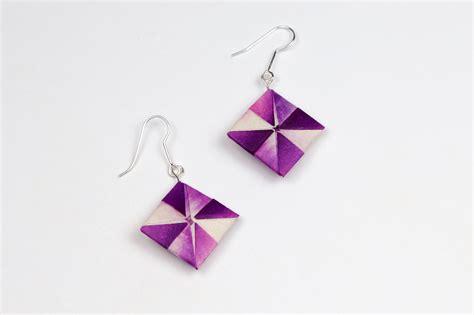 how to make origami jewelry how to make origami earrings