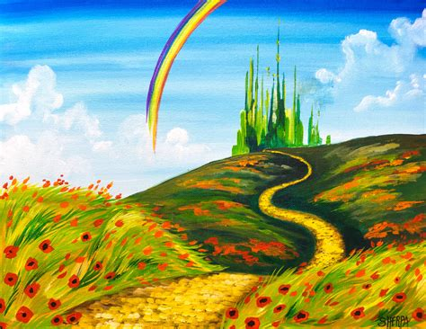 painting acrylic landscapes easy way easy acrylic painting tutorial emerald city landscape