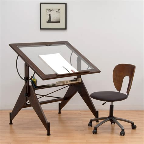 table top drafting table studio designs aries glass top drafting table sonoma
