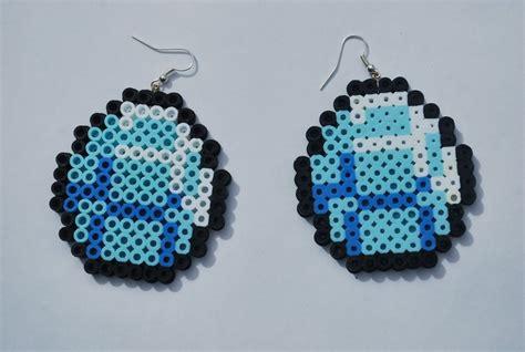 fuse bead creations minecraft diamonds perler bead earrings 5 00 via etsy