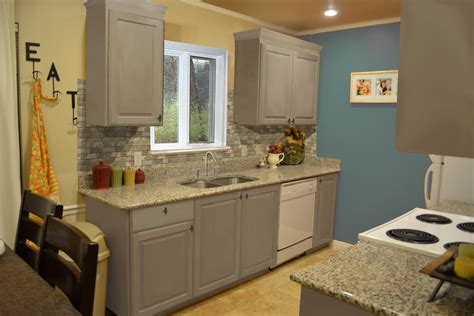grey painted kitchen cabinets small kitchen design with exposed backsplash and