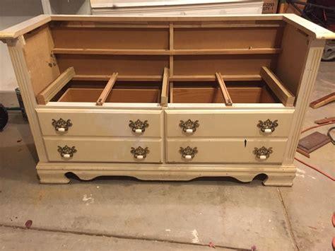 chalk paint bench ideas hometalk repurposed dresser to bench