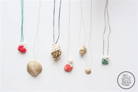 how to make jewelry with shells jewelry diy with paint dipped coral and gold shells the