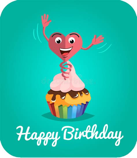 how to make a card jump out of the deck happy birthday card jumps out of cake 2 stock illustration