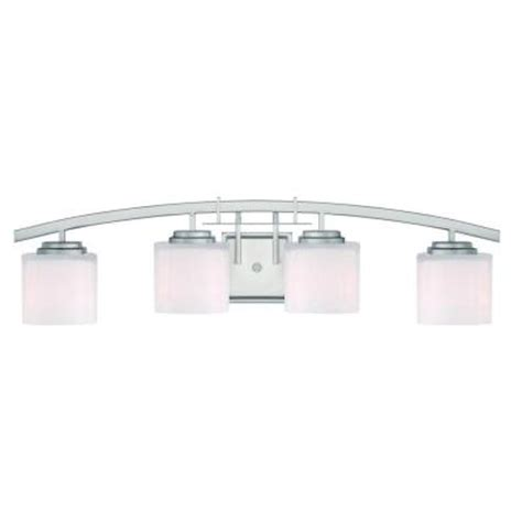 home depot bathroom lighting brushed nickel hton bay architecture 4 light brushed nickel vanity