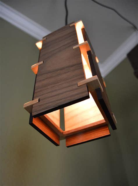 woodwork design square wooden pendant light id lights