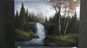 bob ross acrylic painting lesson paint with kevin hill sparkling waterfall funnycat tv
