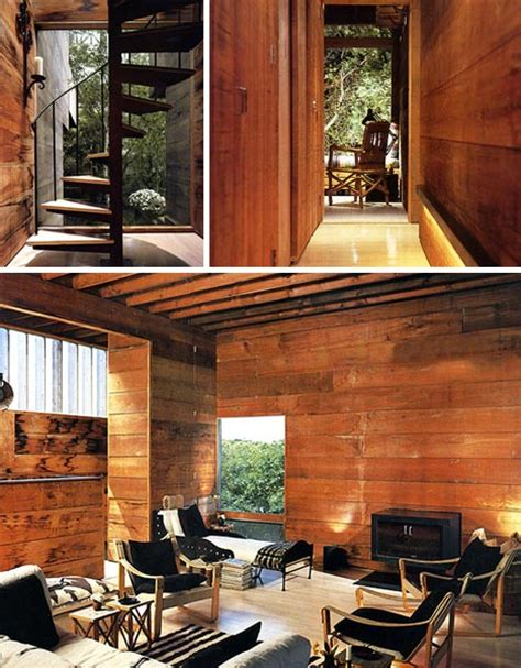 woodwork in home literal treehouse modern all wooden home in the forest