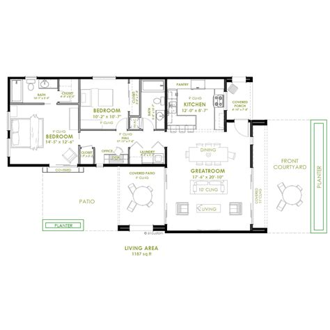 two bedroom house modern 2 bedroom house plan bedrooms modern and house