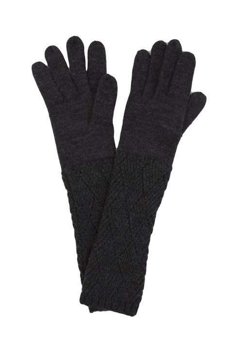 knit gloves for knit gloves in black lyst