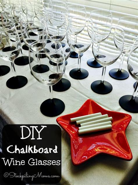 diy chalkboard label wine glasses diy wine glasses book covers