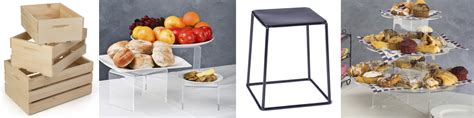 buffet table risers buffet display ideas from tablecloths to risers