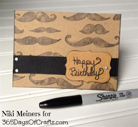 mens birthday cards to make mustache crafts for movember diy and craft