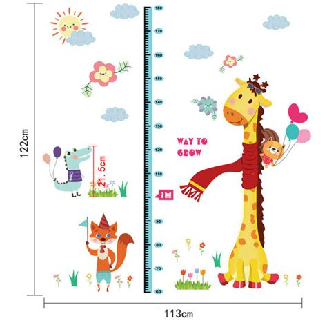 removable wall stickers for baby room removable height chart measure wall sticker decal for