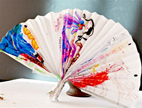 paper craft for toddlers make a decorative fan paper craft for