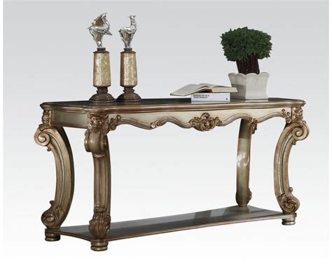 traditional sofa tables vendome traditional ornate sofa table with wood top in