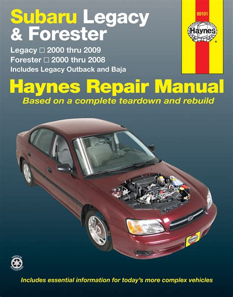 car manuals free online 2006 subaru outback head up display subaru legacy forester haynes repair manual 2000 2009 hay89101