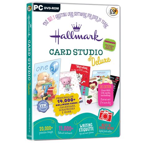hallmark card software hallmark card studio deluxe the no 1 greeting card software