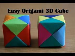 3d cube origami origami cube easy paper cube for