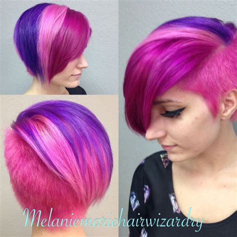 multie colored bob hair styles multi colored short hairstyles
