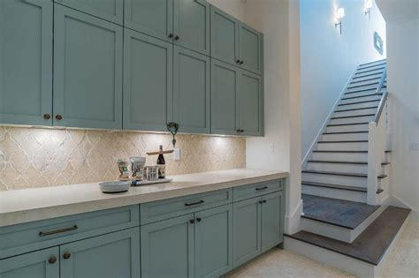 blue kitchen tile backsplash blue kitchen cabinets with arabesque backsplash tiles