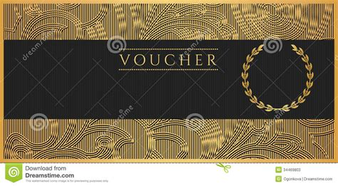 voucher gift certificate coupon template scroll stock
