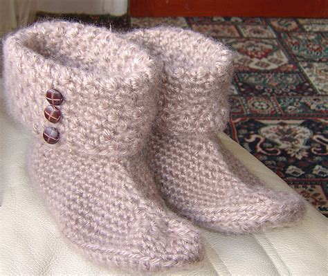 easy knitted slippers for beginners patterns knit slippers