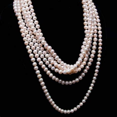 pearls jewelry 7 strand white pearl necklace margaret palmer jewelry