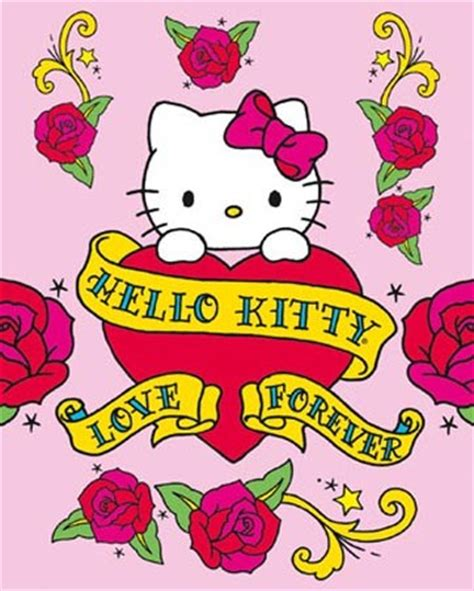 Hello Kitty Wall Murals love forever hello kitty poster card buy online