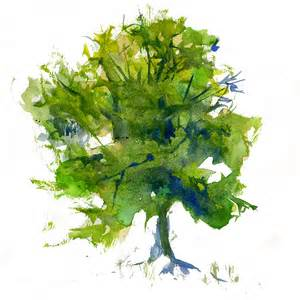 paint tree watercolor painting a green tree watercolor painting