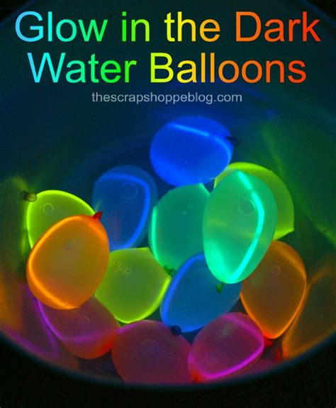 how to make glow in the paint without phosphorescent powder glow in the water balloons design dazzle