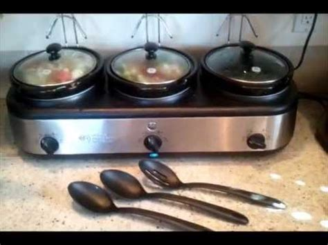 3 crock pot buffet ge 3 crock cooker buffet review