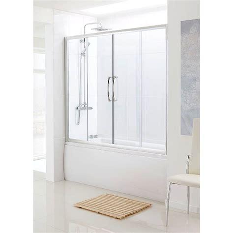 Sliding Shower Screen Over Bath bathscreen silver over bath sliding door buy online at