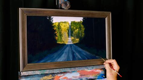 acrylic painting dvds up the autumn road an acrylic painting lesson on dvd