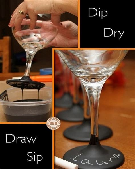 diy chalk paint on glass diy chalkboard paint wine glasses crafts
