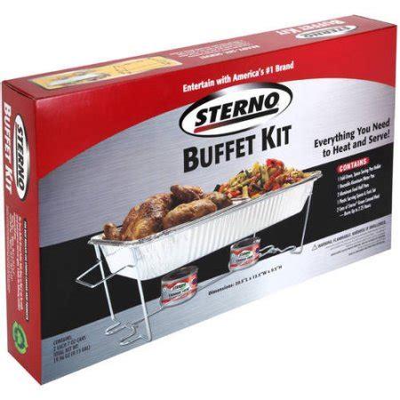 kit walmart sterno 70182 size buffet kit walmart