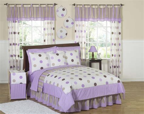 purple polka dot comforter sets purple brown polka dot circle bedding
