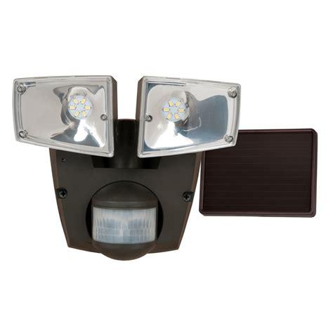 solar motion sensor light lowes shop utilitech pro 180 degree 2 black solar powered