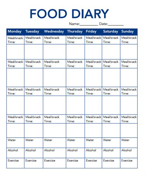 food journal template pdf search results calendar 2015