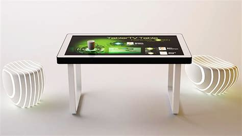 touch screen coffee table tablertv s touch screen coffee table lets you interact