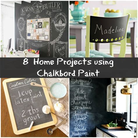 chalkboard paint usage 8 creative chalkboard project ideas for your home