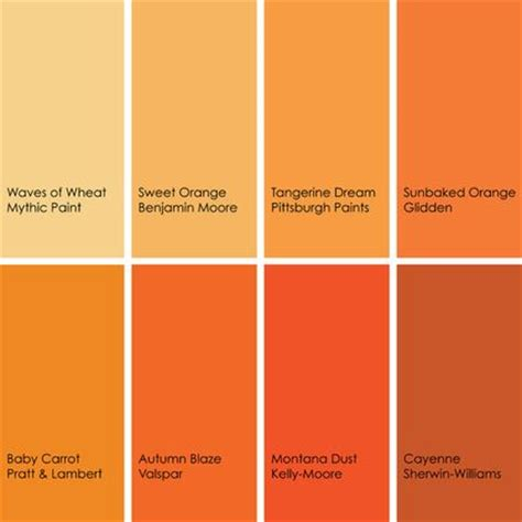 behr paint colors tangerine some of my favorite oranges clockwise from top left 1