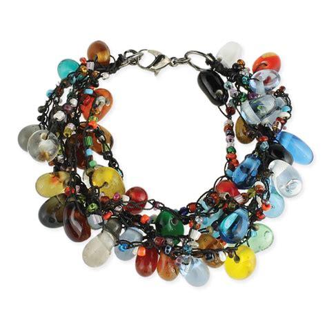 glass bead bracelets wholesale wholesale glass bead drop black thread bracelet zad