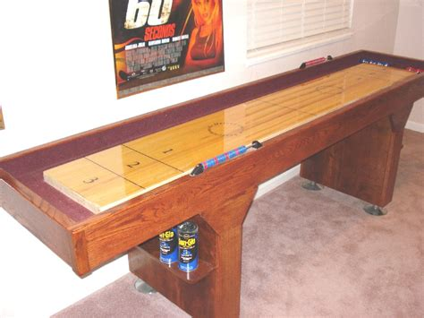 how to make a shuffleboard table how to build a shuffleboard table i shuffleboard