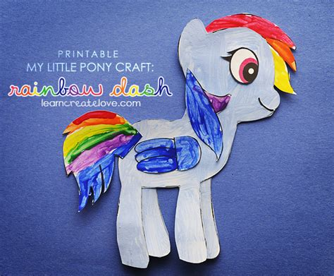 crafts with pony printable my pony craft rainbow dash