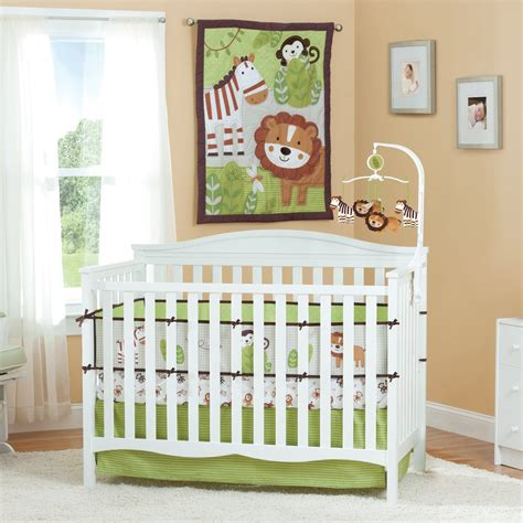 baby jungle bedding summer infant jungle buddies baby bedding collection