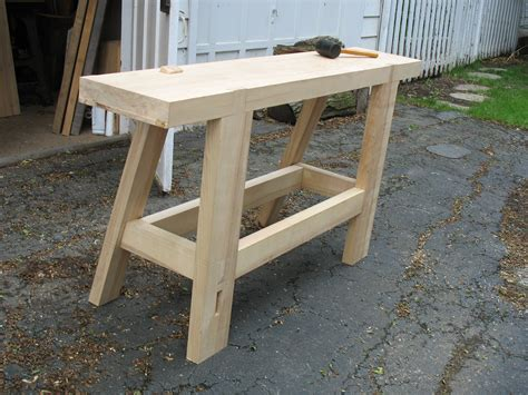 portable woodworking bench plans a take on underhill s bench