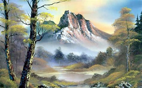 bob ross painting backgrounds bob ross wallpaper wallpapersafari