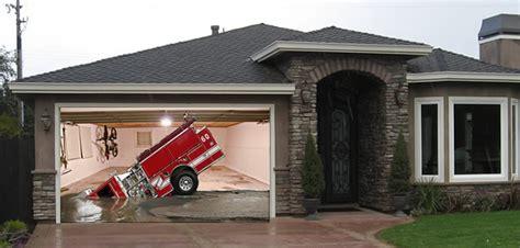 Custom Garage Design emergency vehicles my screen design garage door picture