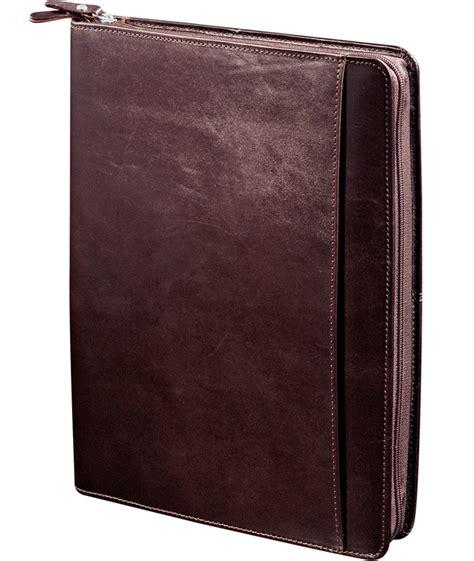 leather portfolio with zipper zippered gusset leather portfolio